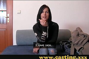 Audition - Firm buttfuck and giant facial cumshot for wonderful Teenage