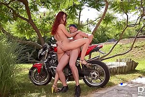 Super-naughty Ginger-haired Shona Sea Ravaged Deep by Biker