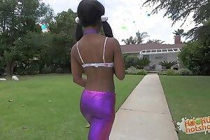 Lil' Ebony Nubile With Braces Demolished