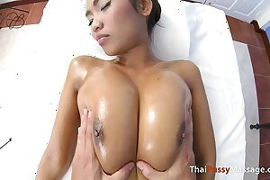 Rubdown some thick congenital hooters and no condom internal ejaculation her afterward
