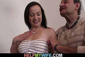 Sate fuck my young wife while i watch