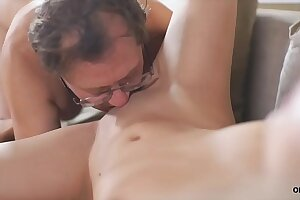OLD4K. Daddy and youthful girl have sex scene that they will not leave behind
