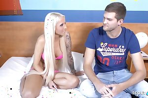 German Sport Chick Tight Tini - Real Userdate with Huge Dick