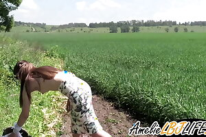 Romp Babe, POV, Sucking Lover's Firm Cock Outdoors - Oral Creampie