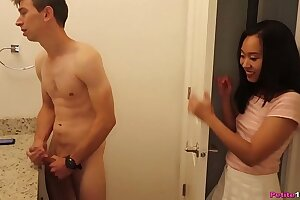 Pocket Sized Japanese Got Punctured By his Monster Cock