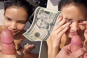 18 Thai Street Teenage Poked And Facialized be expeditious for 5 Money-bag